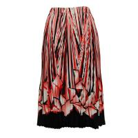 Skirts - Georgette Mini Pleat - Calf Length - Prisms Orange-Black
