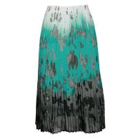 Skirts - Georgette Mini Pleat - Calf Length - Spots Teal-Grey