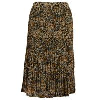 Skirts - Georgette Mini Pleat - Calf Length - Leopard Print (Three Quarter Lining)