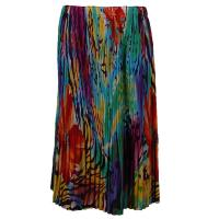 Skirts - Georgette Mini Pleat - Calf Length - Abstract Floral - Rainbow