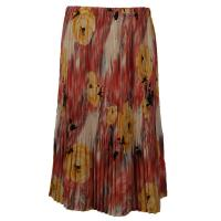 Skirts - Georgette Mini Pleat - Calf Length - Roses Mauve-Yellow