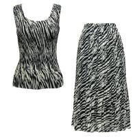 Sets Georgette Mini Pleat - Sleeveless - Zebra Stripe