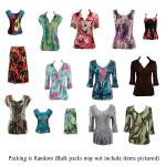 Fifty Pack Satin Mini Pleats Shirts and Skirts Assortments (See RM)