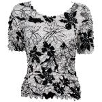 Floral - Black on White
