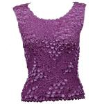 Pinpoint Coin - Sleeveless - Plum