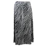 Magic Crush Satin Skirt - Zebra Stripe