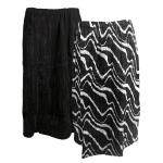 Magic Crush Reversible Calf Length Skirt - Ribbon Black-White
