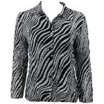 Magic Crush Silky Touch Blouse - Zebra Stripe