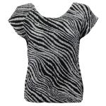 Magic Crush Silky Touch Cap Sleeve - Zebra Stripe