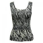 Georgette Mini Pleat Sleeveless - Zebra Stripe