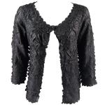 Origami One Button Cardigan - Solid Black