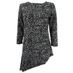 Magic Slinky Asymmetric Tunic - Leopard Black-White