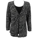 Magic Slinky Mock Cardigan - Leopard Black-White