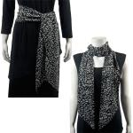 Magic Slinky Sash/Scarf - Leopard Black-White