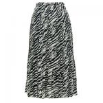 Georgette Mini Pleat Ankle Length Skirt - Zebra Stripe
