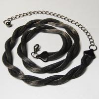 Belts - Metal and Chain - Mesh Twist - Black Hematite