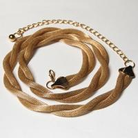 Belts - Metal and Chain - Mesh Twist - Gold