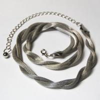 Belts - Metal and Chain - Mesh Twist - Silver