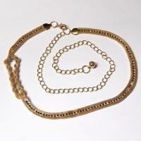Belts - Metal and Chain - 7102 - Gold