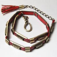 Belts - Metal and Chain - 9048 - Red
