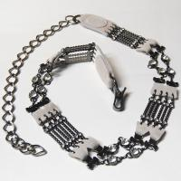 Belts - Metal and Chain - L6052 - White