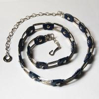 Belts - Metal and Chain - L6059 - Navy
