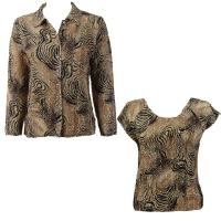Twin Sets Silky Touch - Blouse / Cap Sleeve - Swirl Animal