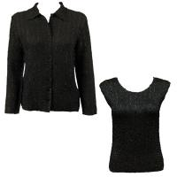 Twin Sets Silky Touch - Blouse / Cap Sleeve - Solid Black