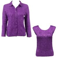 Twin Sets Silky Touch - Blouse / Cap Sleeve - Solid Bright Purple