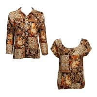 Twin Sets Satin - Blouse / Cap Sleeve - Multi Animal Floral