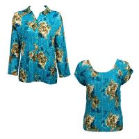 Twin Sets Satin - Blouse / Cap Sleeve - Taupe on Teal