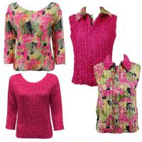 Sets - Reversible Vest / Two TQ Tops - Tropical Heat - Hot Pink
