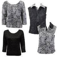 Sets - Reversible Vest / Two TQ Tops - Reptile Black-White - Black