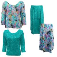 Sets Magic Crush Silky Touch - Two TQ / Calf Skirt - Tropical Breeze - Bright Teal
