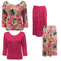 Sets Magic Crush Silky Touch - Two TQ / Calf Skirt - Tropical Heat - Hot Pink