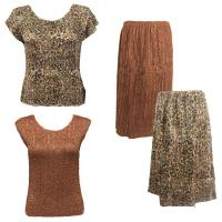Sets Magic Crush Silky Touch - Two Cap/Calf Skirt - Leopard - Dark Taupe