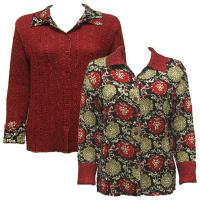 Overstock Tops - Magic Crush Reversible Jacket - Medallion Gold-Red