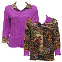 Overstock Tops - Magic Crush Reversible Jacket - Paisley Plaid Magenta