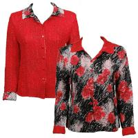 Overstock Tops - Magic Crush Reversible Jacket - Spray of Roses