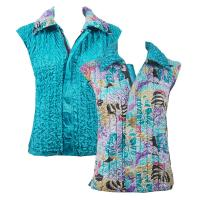 Overstock Tops - Reversible Vest - Tropical Breeze reverses to Bright Teal
