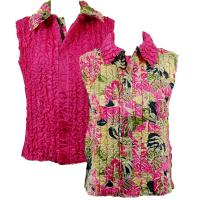 Overstock Tops - Reversible Vest - Tropical Heat reverses to Solid Hot Pink