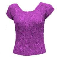 Overstock Tops - Magic Crush Diamond Cap Sleeve - Raspberry Sherbert