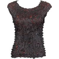 Overstock Tops - Origami Sleeveless - Black-Brown
