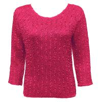 Overstock Tops - Magic Crush Silky Touch Three Quarter - Solid Hot Pink