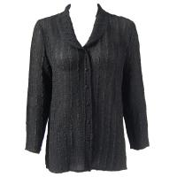 Overstock Tops - Magic Crush Georgette Blouse - Solid Black