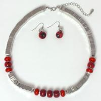 Overstock Jewelry - Silver with Red Stones