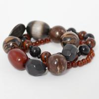 Overstock Jewelry - Bracelet - Big Bead Animal - Zebra-Brown