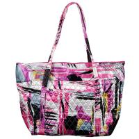 Quilted Bags - Large Tote - Graffiti Raspberry