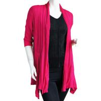 Magic Convertible Ribbed Sweater  - Magenta