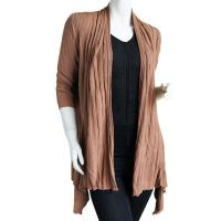Magic Convertible Ribbed Sweater  - Taupe